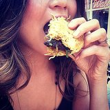 Chrissy Teigen hopped on the ramen burger bandwagon. Source: Instagram user chrissyteigen