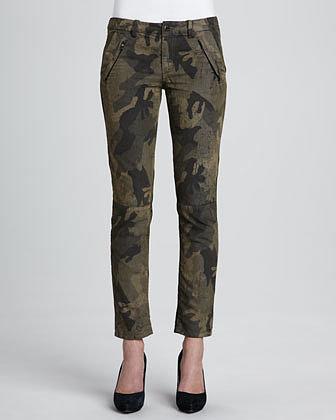 Joe's Jeans Dayna Camouflage-Print Ankle Pants