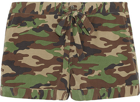 Equipment Lilian camouflage-print silk pajama shorts