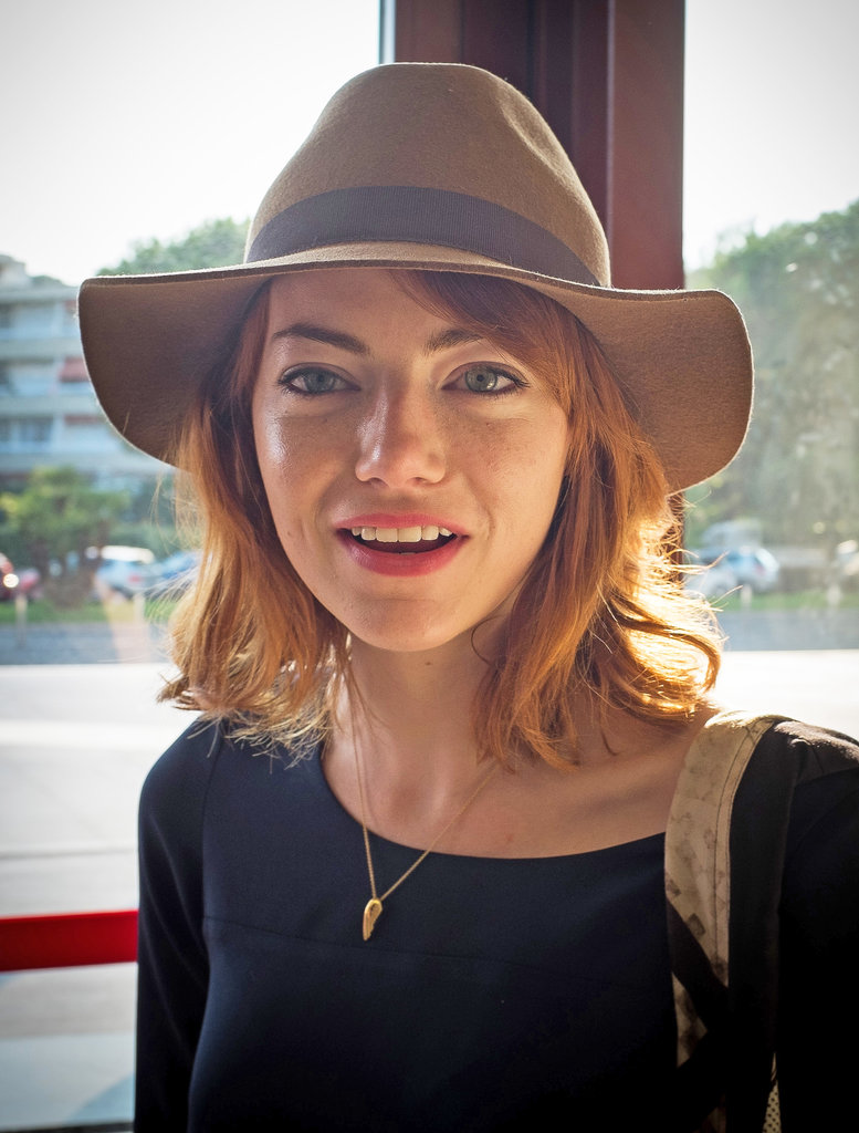 Emma Stone showed off her newly red strands earlier this Summer with a fedora and loose waves.