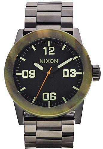 Nixon 'The Private' Camo Bezel Bracelet Watch, 42mm Matte Black/ Camo One Size