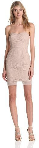 BCBGMAXAZRIA Women's Roselle Fitted Strapless Lace Dress
