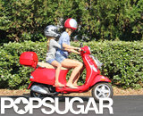 Gwyneth Paltrow zipped through the Hamptons on a Vespa.