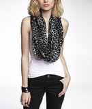 Add a wild touch to neutrals with Express's leopard print infinity scarf ($30).