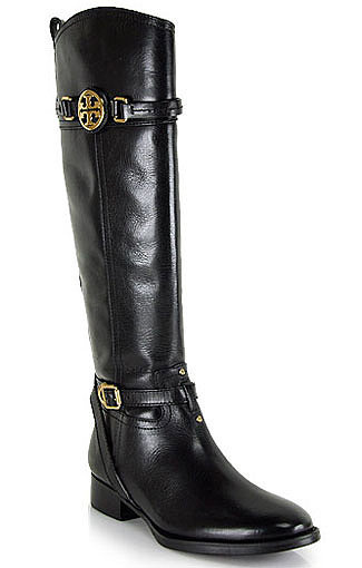 Looking for the perfect pair of Fall boots? Signature gold hardware gives this Tory Burch Calista knee-high boot ($495) an extra special touch.