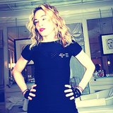 Madonna was all decked out in Nike Pro gear when she shared a demo of a Hard Candy butt exercise. Source: Instagram user madonna