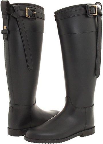Burberry - Wellington Rain Boot (Black) - Footwear