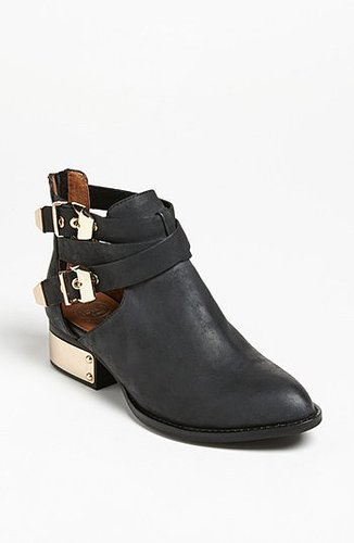 Jeffrey Campbell 'Everly' Bootie Womens Black/ Washed Gold Size 7.5 M 7.5 M