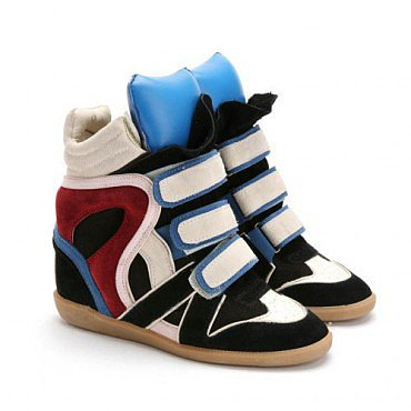 ISABEL MARANT BEKKET HIGH TOP WEDGE SNEAKERS BLUE