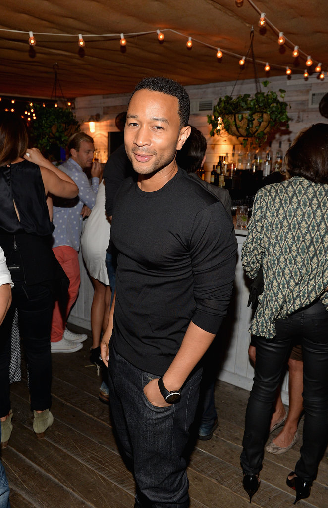 John Legend kept things sleek in all black at the Soho House 10th anniversary party in New York City.