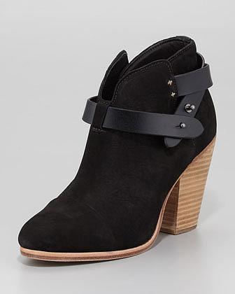 Rag & Bone Harrow Nubuck Ankle Boot, Black