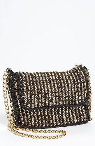 Sondra Roberts Chain Crossbody Bag Black/ Gold