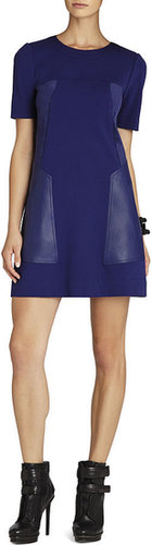 Chrissie Ponti and Faux-Leather Shift Dress