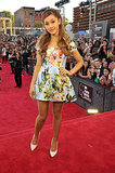 Ariana Grande hit the red carpet at the VMAs.