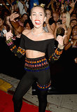Miley Cyrus wore a bejewelled outfit to the VMAs.