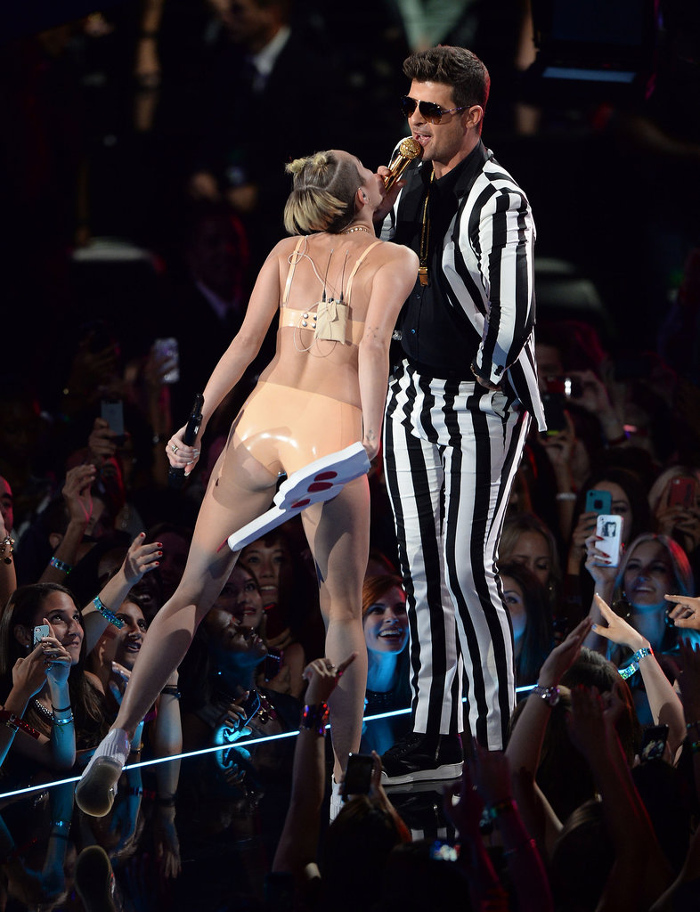 Miley Cyrus collaborated with Robin Thicke for their VMAs performance.