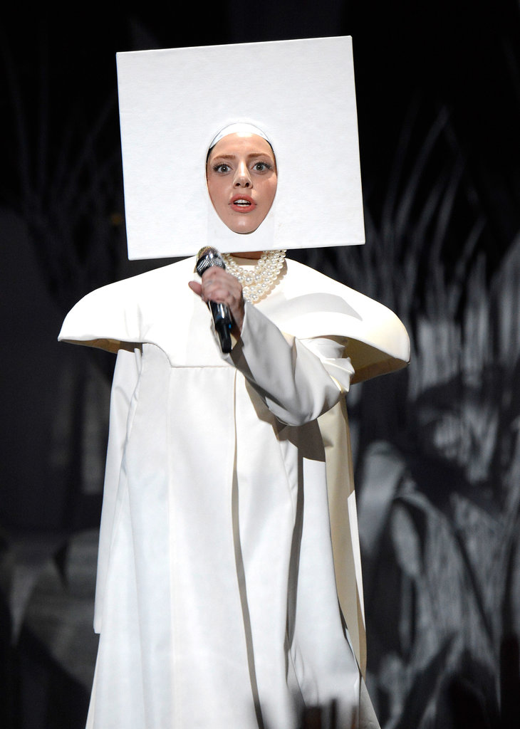 Lady Gaga opened the show with a dramatic performance.