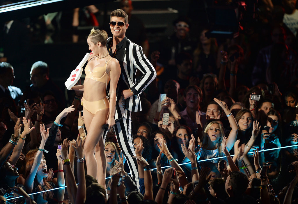 Miley Cyrus and Robin Thicke performed at the VMAs together.