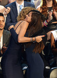 Taylor Swift and Selena Gomez hugged when Selena won.