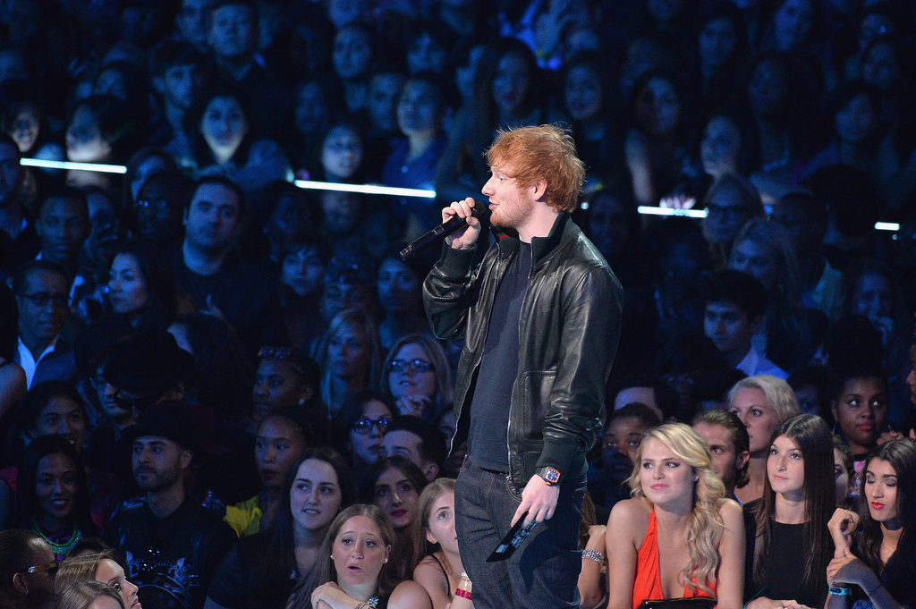 Ed Sheeran presented an award at the VMAs.
