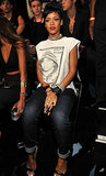 Rihanna sat in the audience at the VMAs.