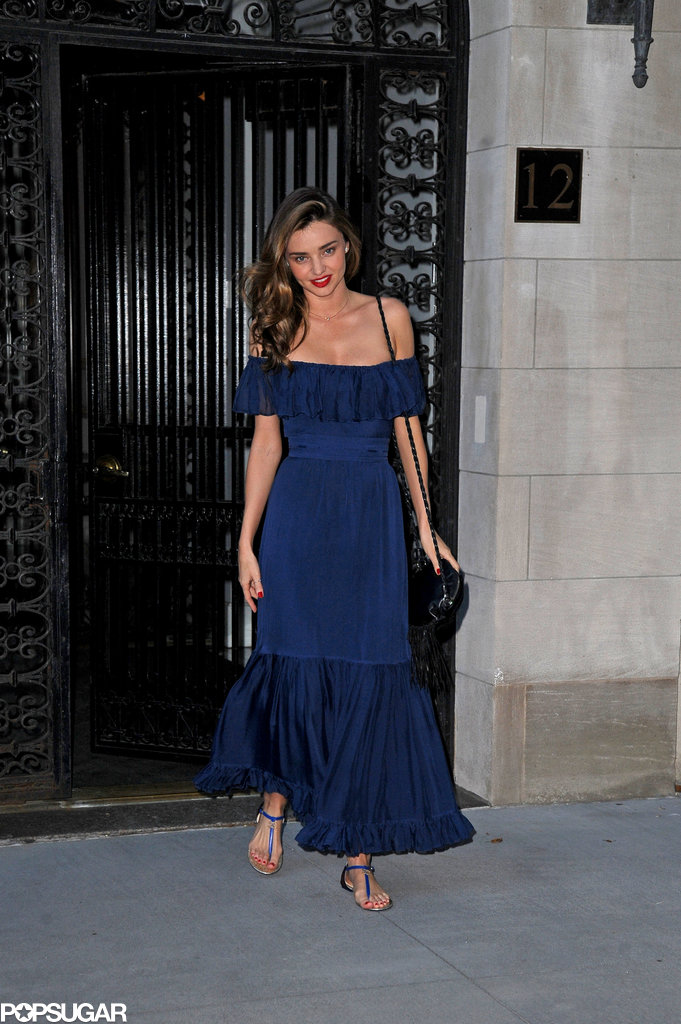Miranda Kerr headed to Orlando Bloom's Broadway play in NYC.