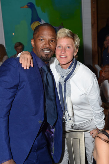 Ellen DeGeneres got together with Jamie Foxx at a party in the Hamptons.