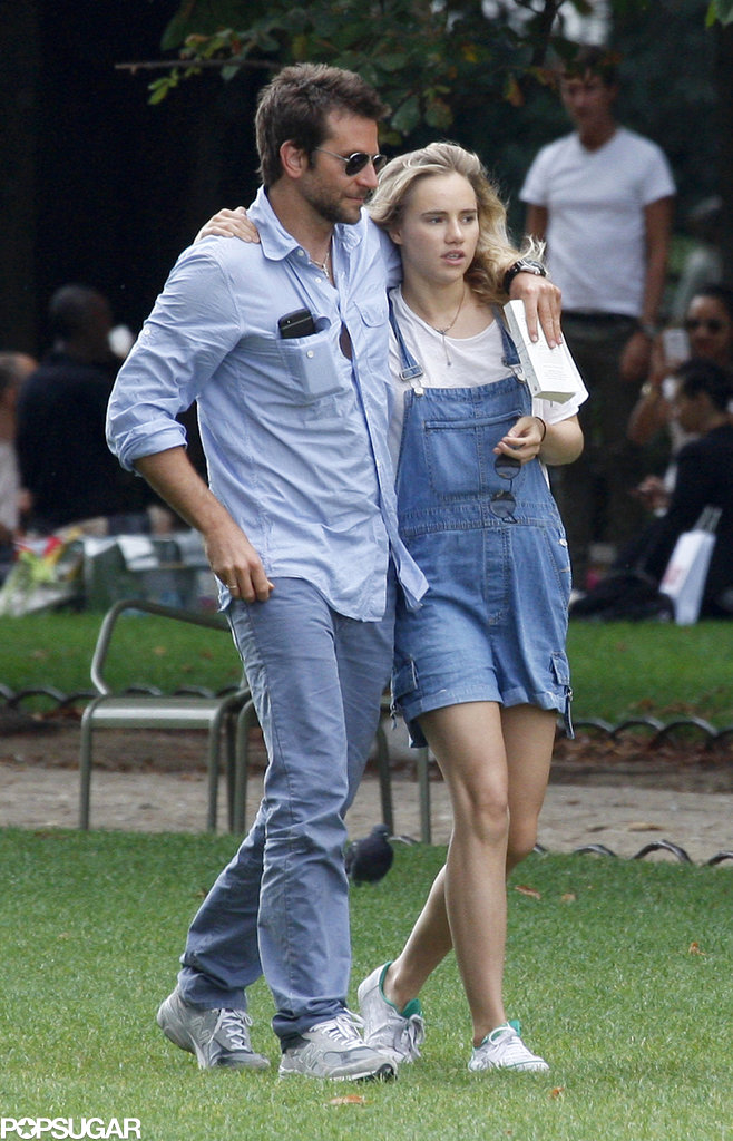 Bradley Cooper and Suki Waterhouse were a denim-clad duo while walking around in Paris.
