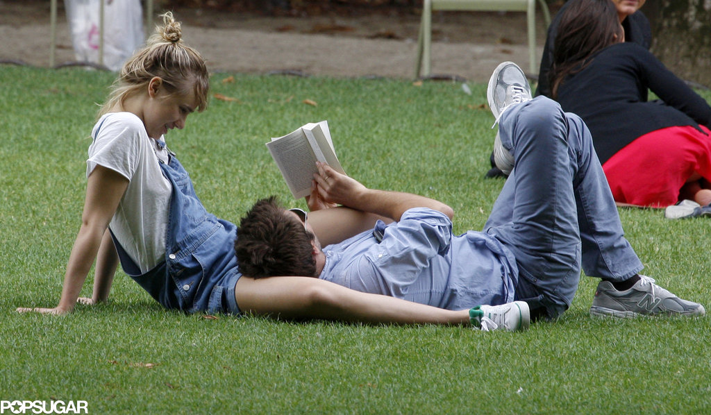 Bradley Cooper and Suki Waterhouse laid in a park together in Paris.