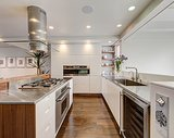 State-of-the-art appliances (including a wine fridge!) are only half of the kitchen's appeal.
