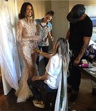 Before arriving for the VMAs, Ciara prepped with her beauty squad. Source: Instagram user ciara