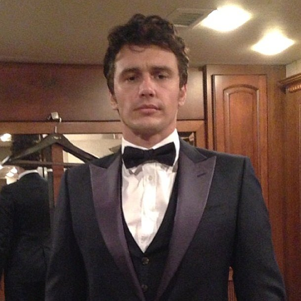 James Franco geared up in Gucci in preparation for his roast. Source: Instagram user jamesfrancotv