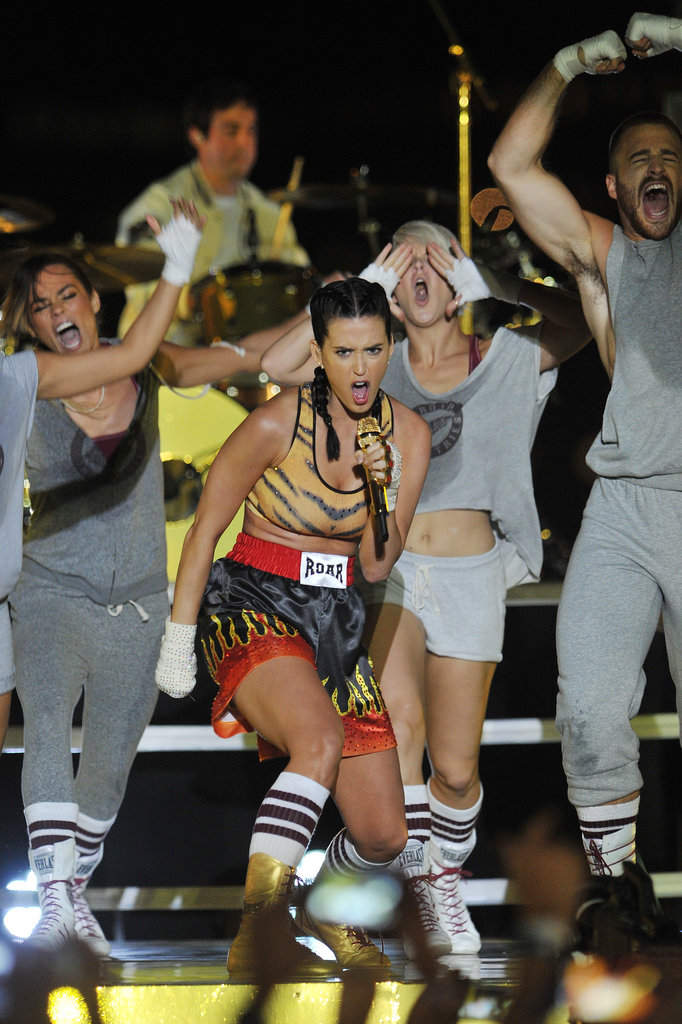 "Katy Perry performed her song ""Roar"" at the VMAs."