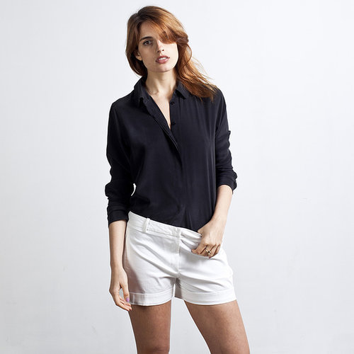 Silk Blouse - Rounded Collar