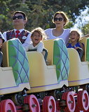 Jennifer Lopez spent Saturday at Disneyland in LA with her kids.