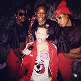 "Miley Cyrus posed with her ""Twerk Team"" before taking the stage. Source: Instagram user mileycyrus"