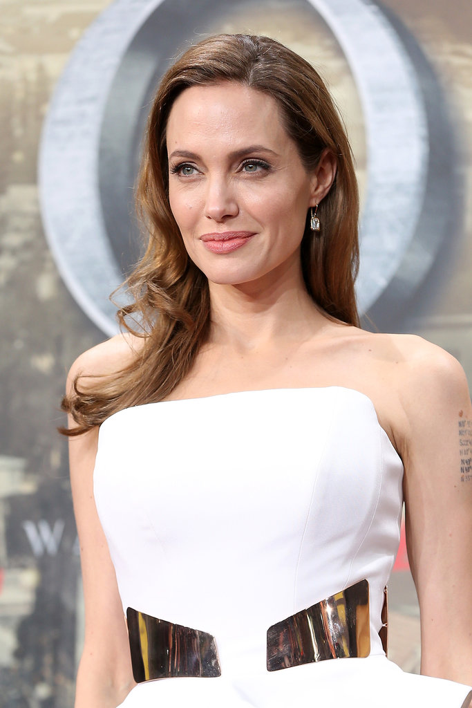Nothing brightens up a russet brown color better than a few caramel highlights. Take Angelina Jolie's frosted style as an example.