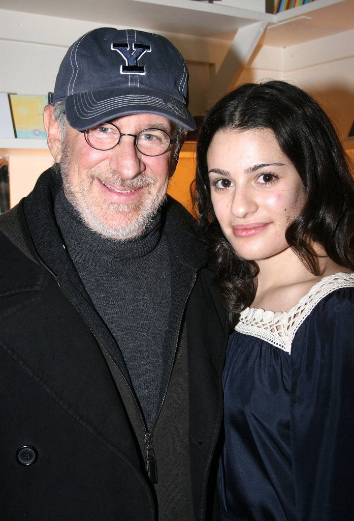 Steven Spielberg and his family checked out Lea Michele's performance in Spring Awakening on Broadway in December 2006.