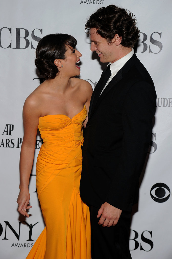 Lea Michele had her longtime friend, Jonathan Groff, by her side at the June 2012 Tony Awards in NYC.