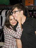 A fresh-faced Lea Michele shared a sweet moment with her Glee costar Kevin McHale during a Pennsylvania mall event in August 2009.
