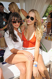 Lea Michele had some fun in the sun with Teresa Palmer at a Coachella party in April 2012.