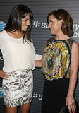 Lea Michele and Christina Ricci met up at a Blackberry launch party in LA in August 2010.