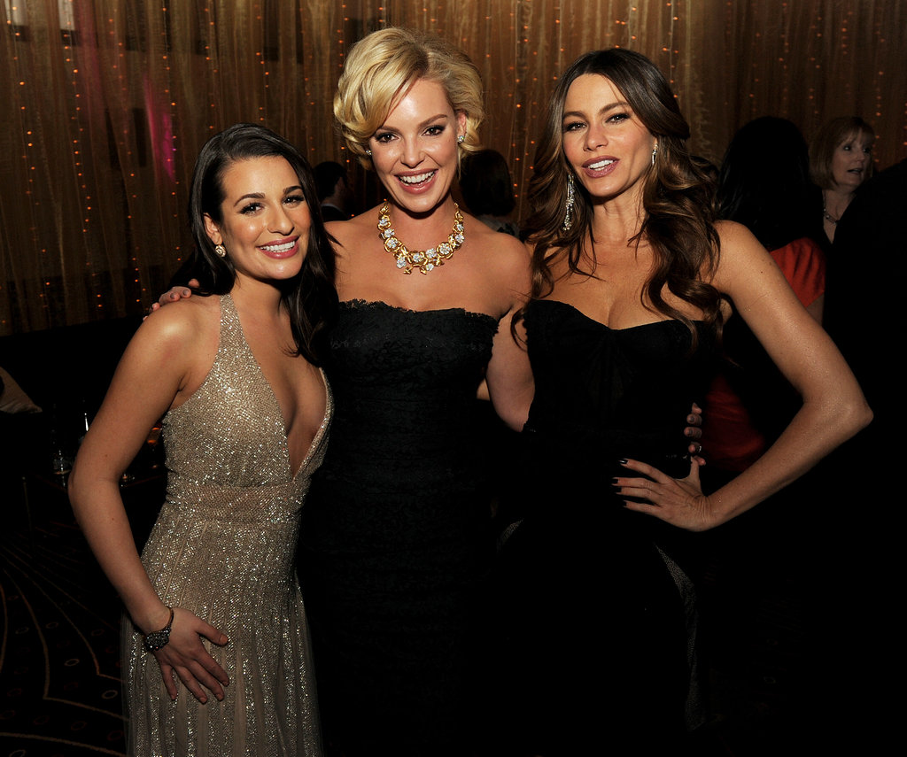 Lea Michele looked stunning alongside her New Year's Eve costars, Katherine Heigl and Sofia Vergara, at the film's premiere party in LA in December 2011.