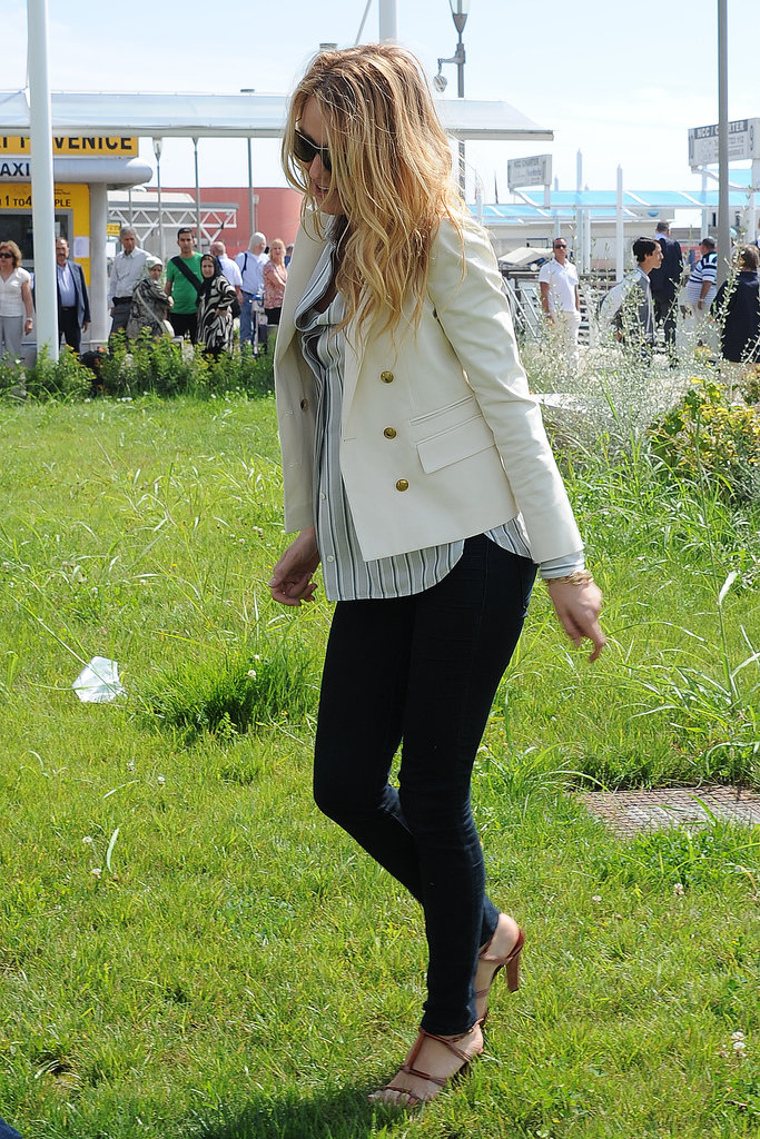 Blake Lively made her way around the festival in 2012.