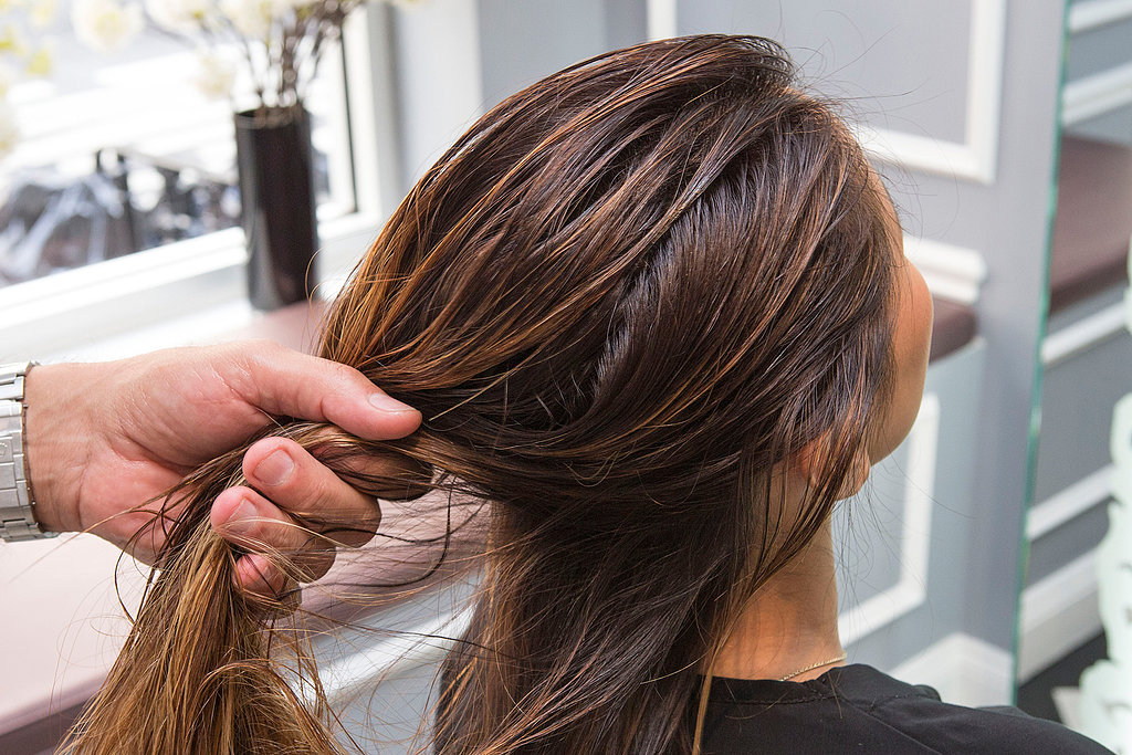 Start off with damp or towel-dried hair and apply a styling gel like Aveda Brilliant Retexturing Gel ($6-$18) for hold and shine.