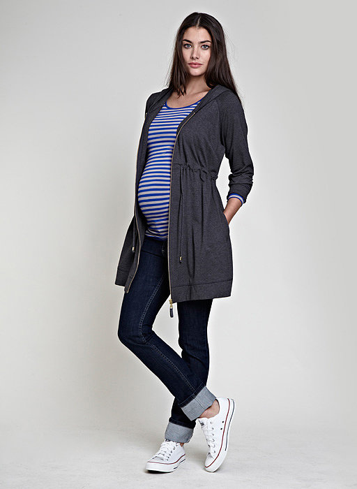 """This loose-fitting Isabella Oliver hooded tunic ($129) is made from fleece jersey and screams """"effortlessly cool."""""""