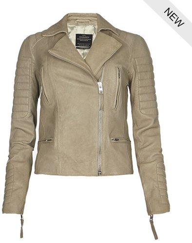 Sage Leather Biker Jacket