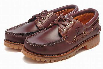 Mens Timberland Classic 3 Eye Boat Shoe Wine