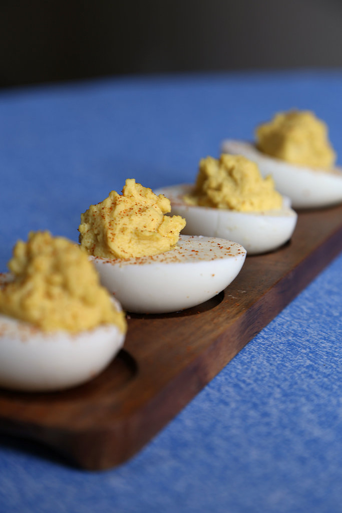 Hard-boiled Eggs, Honey Dijon, and Cayenne