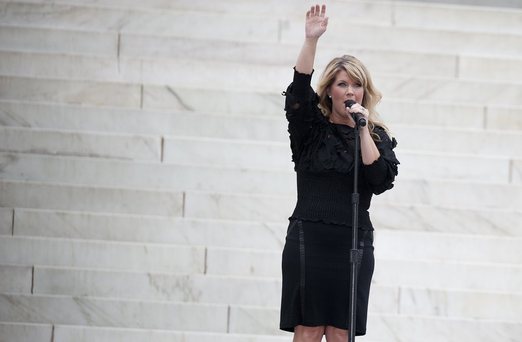 Natalie Grant performed on the steps of the Lincoln Memorial for the Let Freedom Ring Commemoration and Call to Action.